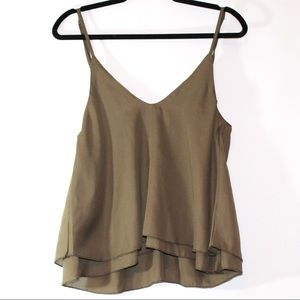 TOBI green tank top with drop back